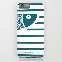 iPhone & iPod Case featuring PIXE 1 (dark blue) by Mi Jardín Secreto