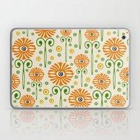 Retro Sunflower Pattern - Susan Weller Laptop & iPad Skin