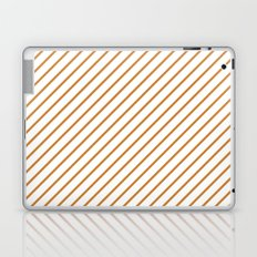 Diagonal Lines (Bronze/White) Laptop & iPad Skin