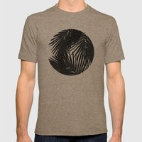 Palms Black Mens Fitted Tee Tri-Coffee SMALL