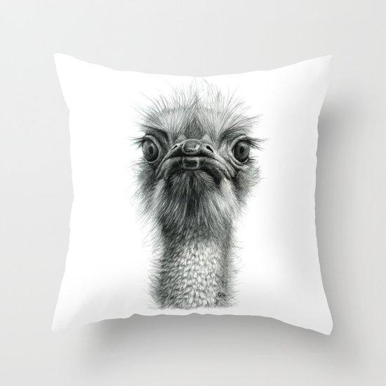 Arrogant Ostrich SK100 Throw Pillow