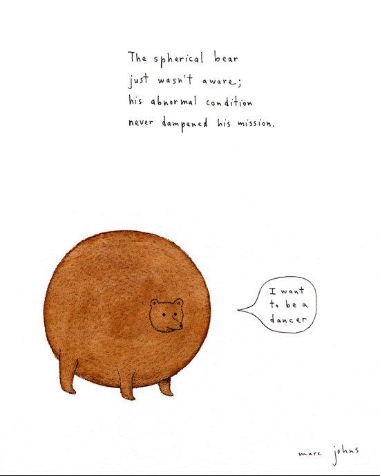 the spherical bear Art Print