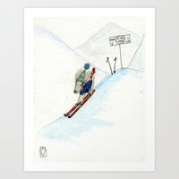 Winter Thrills Art Print
