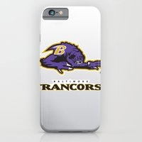 iPhone Cases featuring Baltimore Rancors - NFL by Steven Klock