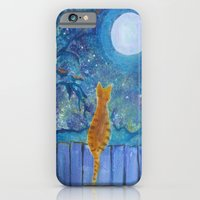 Cat On A Fence In The Mo… iPhone 6 Slim Case