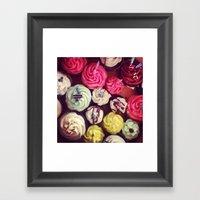 CUPCAKES! Framed Art Print