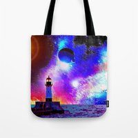 Lighthouse To The Stars Tote Bag