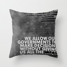 The Facts Throw Pillow