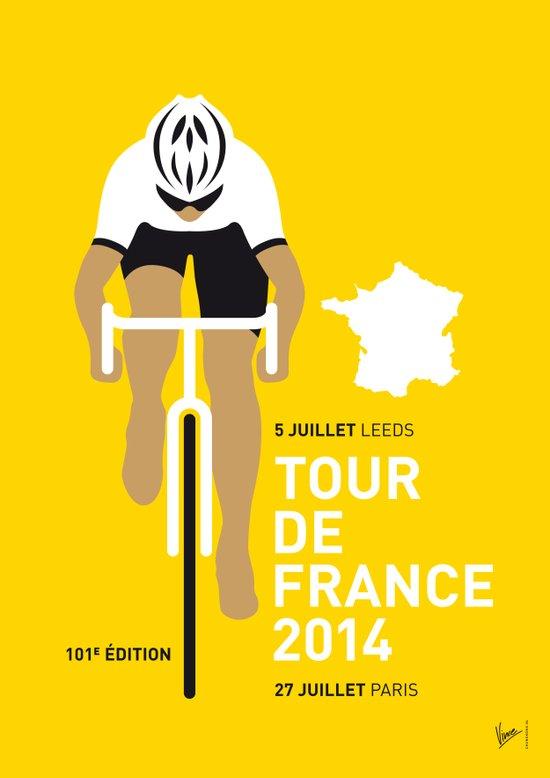 My TOUR DE FRANCE Minimal Poster Canvas Print