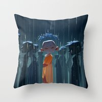 Monk In Modern Times Throw Pillow