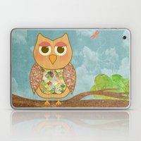 Woodland Owl In A Tree Laptop & iPad Skin