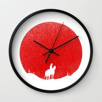 The Rising Sunset Wall Clock