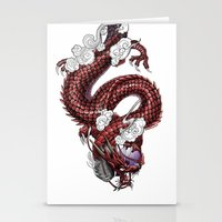Japanese Dragon 竜 Stationery Cards