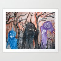 Monsters, We Art Print