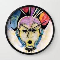 Veto's Mask Wall Clock