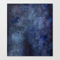Night Sky Stars Galaxy |… Canvas Print