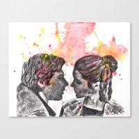 Han Solo And Princess Le… Canvas Print