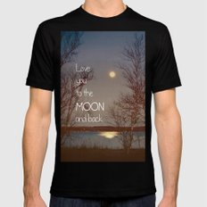 To the Moon and Back Black Mens Fitted Tee SMALL