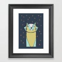 Cubist Cat Study #11 by Friztin Framed Art Print