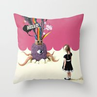 Hello Ruby Throw Pillow