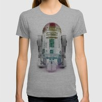 UNREAL PARTY 2012 R2D2 R2-D2 STAR WARS Womens Fitted Tee Athletic Grey SMALL