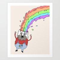 RainbowHead Art Print