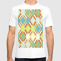 Retro Mens Fitted Tee White SMALL