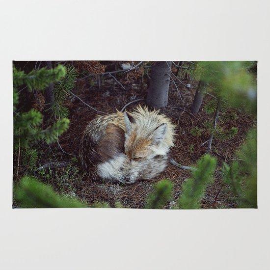 Sleeping Fox Area & Throw Rug