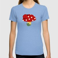 Ladybug Womens Fitted Tee Tri-Blue SMALL
