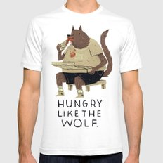hungry like the wolf SMALL White Mens Fitted Tee