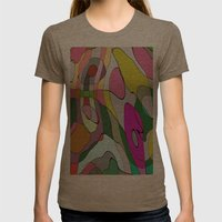 Dogs II Womens Fitted Tee Tri-Coffee SMALL