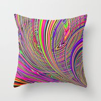 Re-Created  Hurricane 8 by Robert S. Lee Throw Pillow