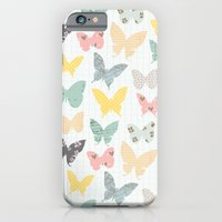 iPhone & iPod Case featuring butterflies pattern by flying bathtub