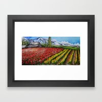 Tulips of the Skagit Framed Art Print