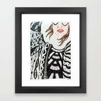 No Emotions are Left Framed Art Print