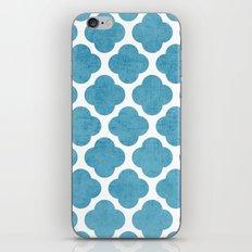 blue folk clover iPhone & iPod Skin