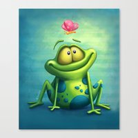 The frog Canvas Print