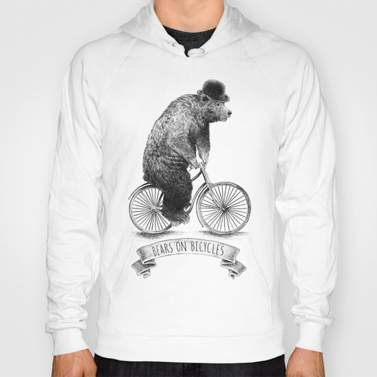 Bears on Bicycles (Lime) Hoody