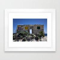 Beach Ruins Framed Art Print