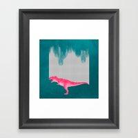 DinoRose - Pinky Tyrex Framed Art Print