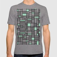 Map Lines Mint Mens Fitted Tee Tri-Grey SMALL