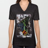 Sunset Moth Wing Abstract Unisex V-Neck