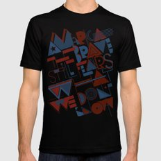 America the Brave Mens Fitted Tee Black SMALL