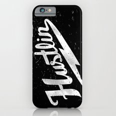 Hustlin - Black background with white image iPhone 6 Slim Case