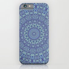 Shades of blue mandala Slim Case iPhone 6s