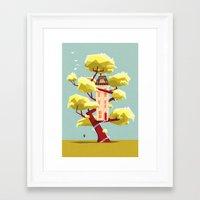The treehouse in my dream Framed Art Print