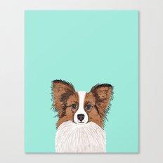 Papillon Cute Dog Fluffy… Canvas Print