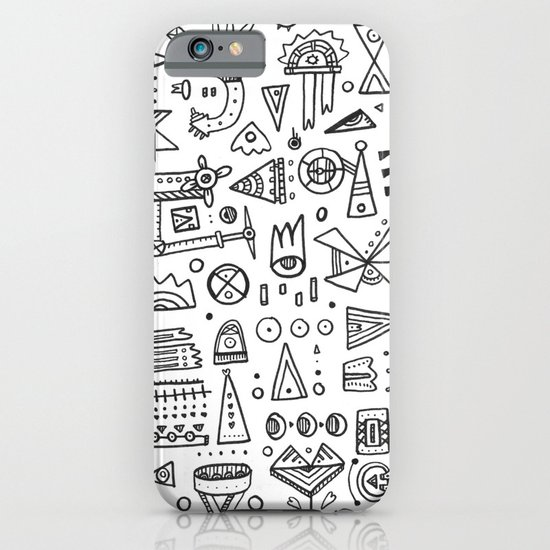 Triangle doodles iPhone & iPod Case