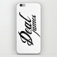 Deal James, Black Text iPhone & iPod Skin