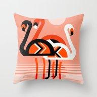 Posse - Flamingo Throwba… Throw Pillow